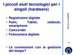 i piccoli aiuti tecnologici per i singoli hardware