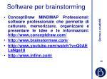 software per brainstorming