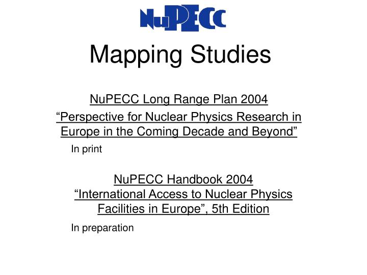 Mapping studies