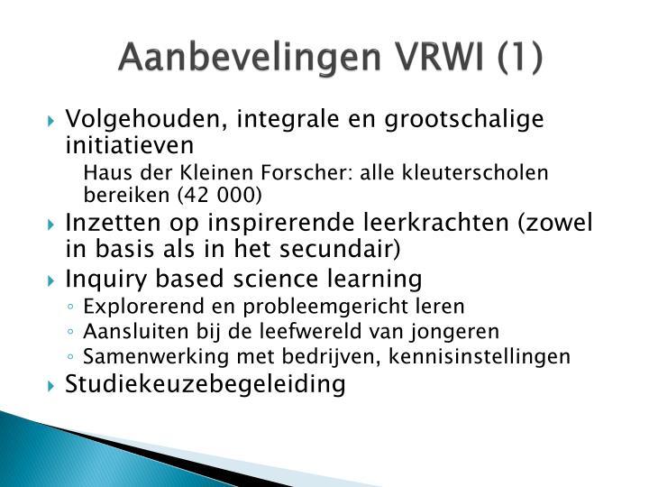Aanbevelingen VRWI (1)