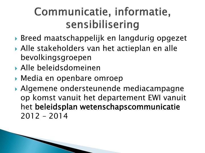 Communicatie, informatie,