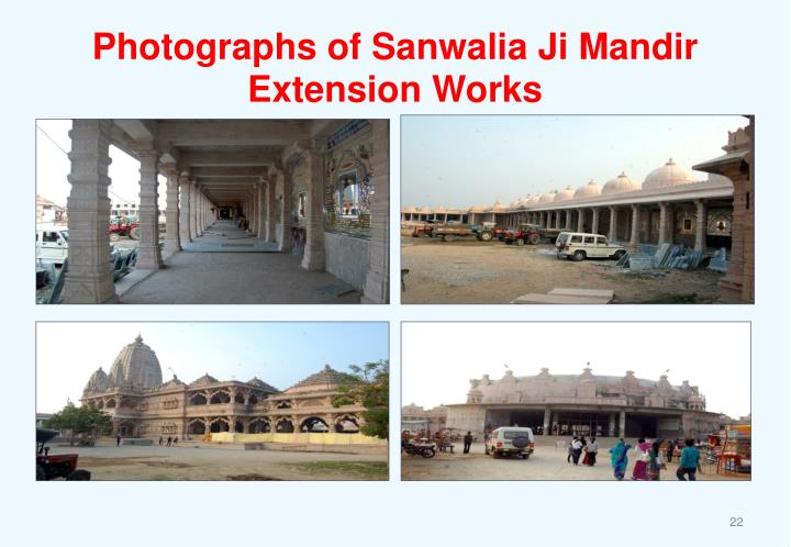 Photographs of Sanwalia Ji Mandir Extension Works