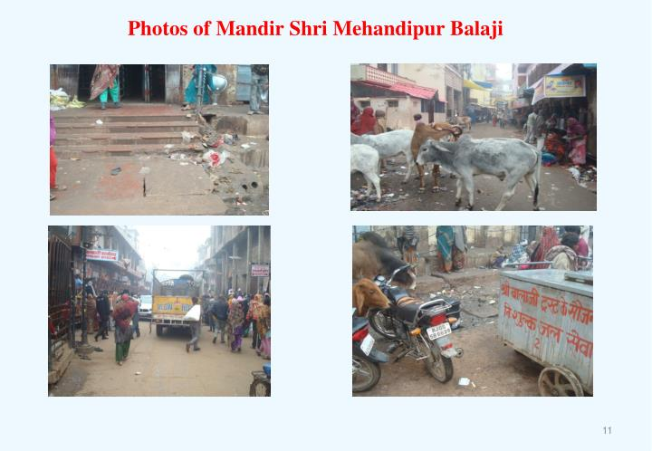 Photos of Mandir Shri Mehandipur Balaji