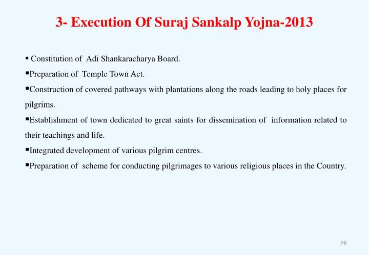 3- Execution Of Suraj Sankalp Yojna-2013