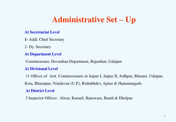 Administrative Set – Up