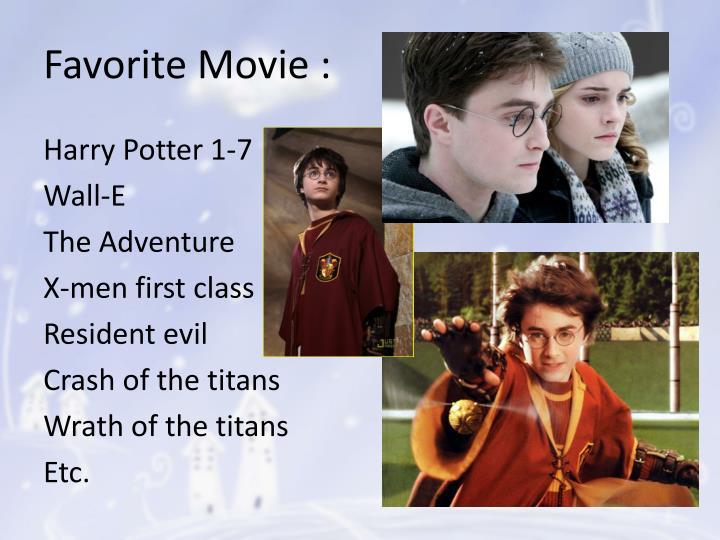 Favorite Movie :