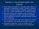 section 4 household health and income