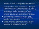 section 9 return migrant questionnaire