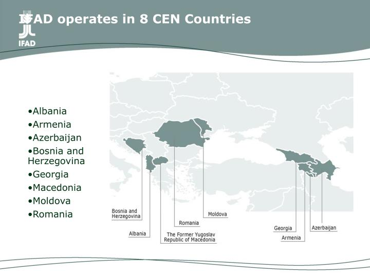 Ifad operates in 8 cen countries
