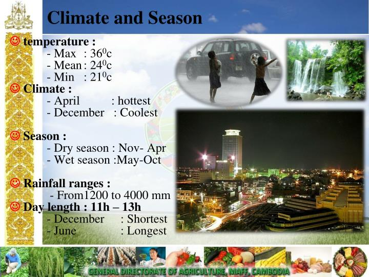 Climate and season
