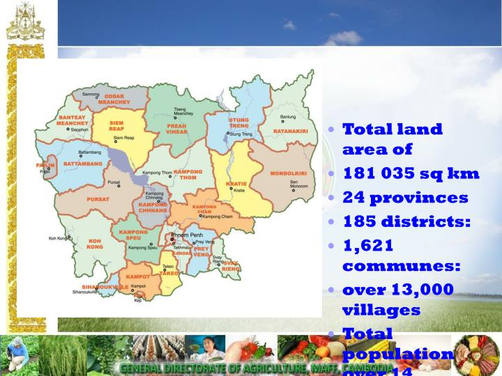 Total land area of