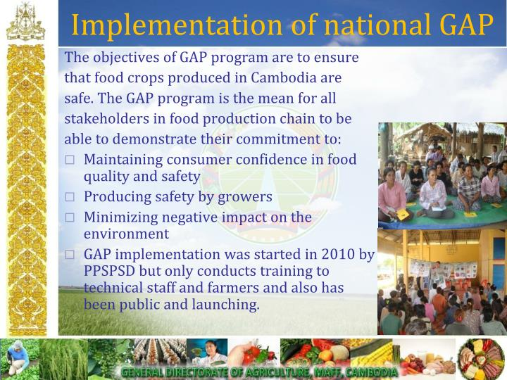 Implementation of national GAP