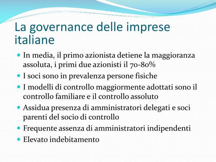 La governance delle imprese italiane
