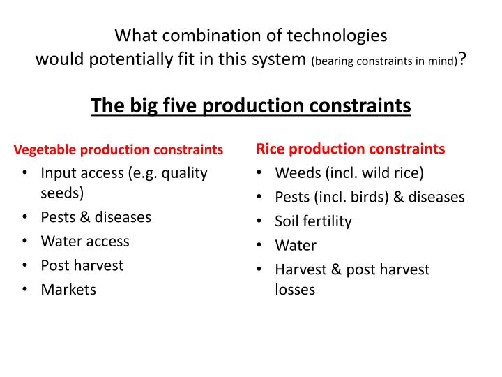 What combination of technologies would potentially fit in this system bearing constraints in mind