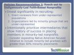 policies recommendation 1 reach out to indigenously led faith based nonprofits1