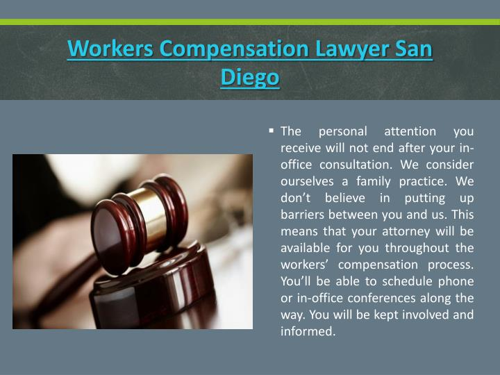 Workers compensation lawyer san diego