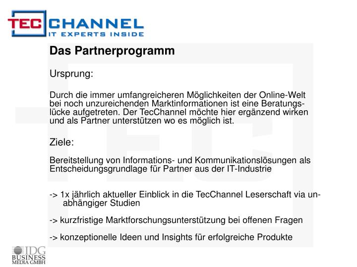 Das partnerprogramm