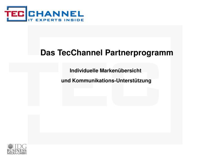 Das TecChannel Partnerprogramm