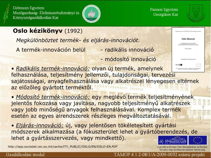 Oslo kézikönyv