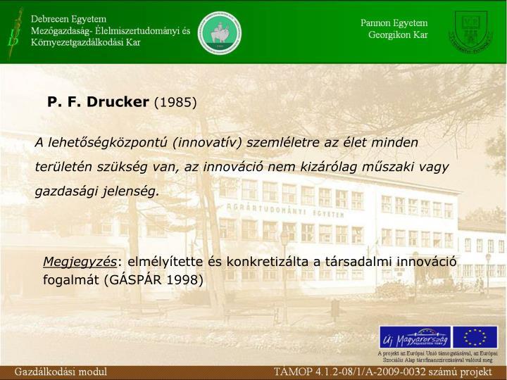P. F. Drucker
