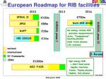 european roadmap for rib facilities