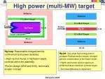 high power multi mw target