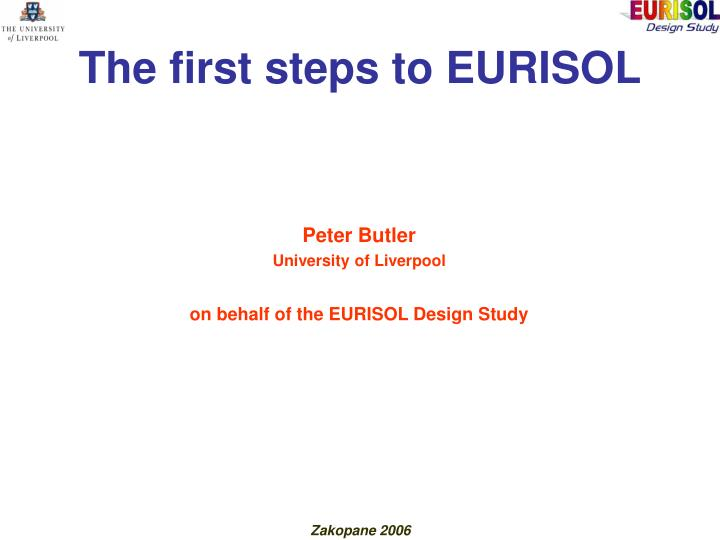 the first steps to eurisol n.