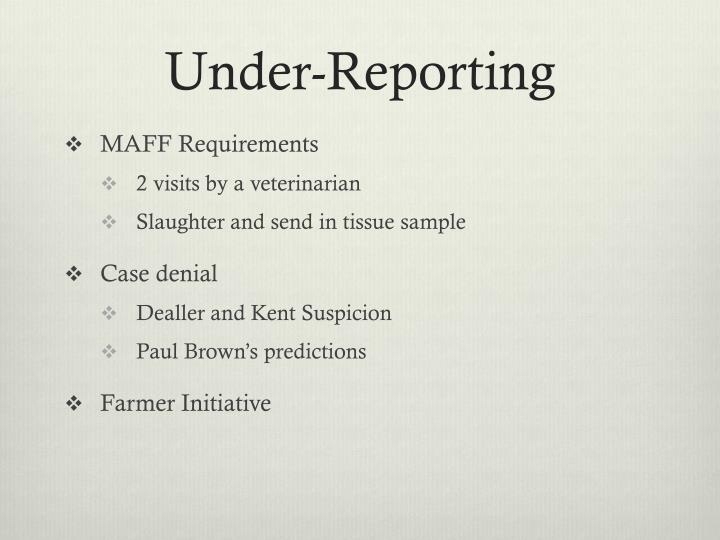 Under-Reporting