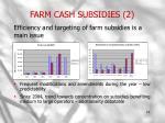 farm cash subsidies 2