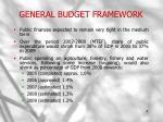 general budget framework
