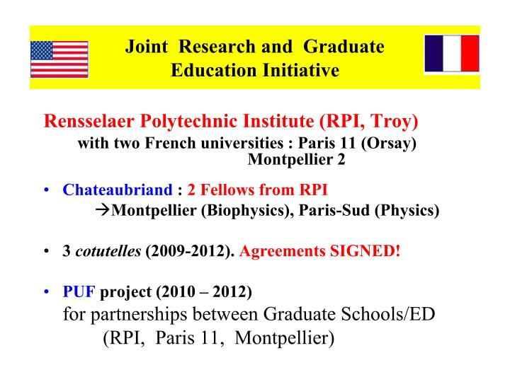 Joint  Research and  Graduate
