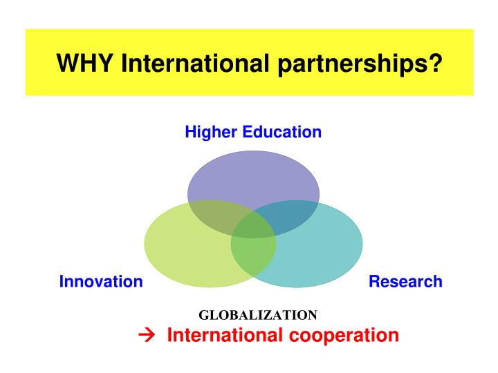 Why international partnerships