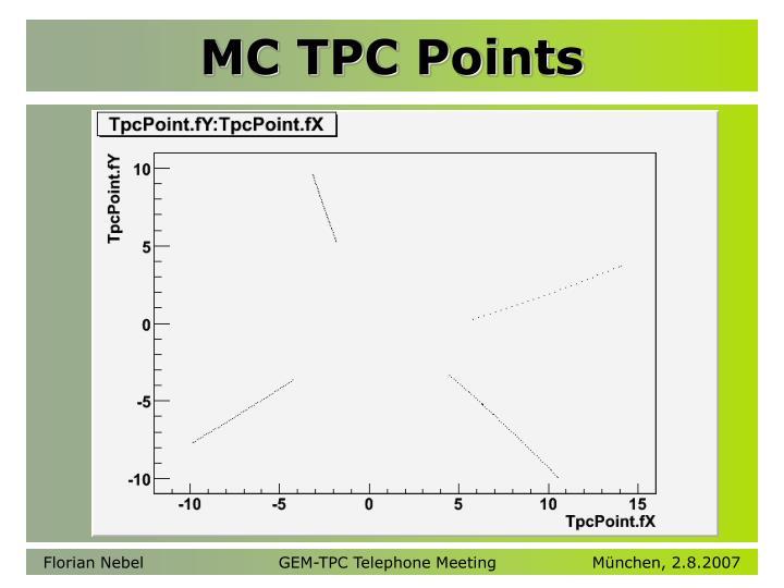 MC TPC Points