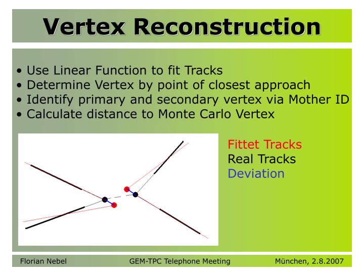 Vertex Reconstruction