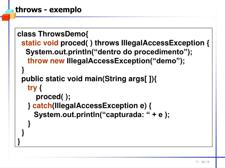 throws - exemplo