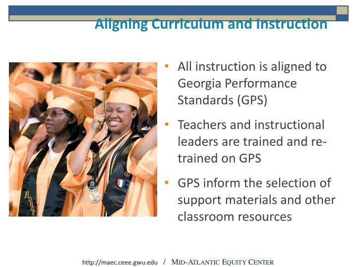 Aligning Curriculum and Instruction
