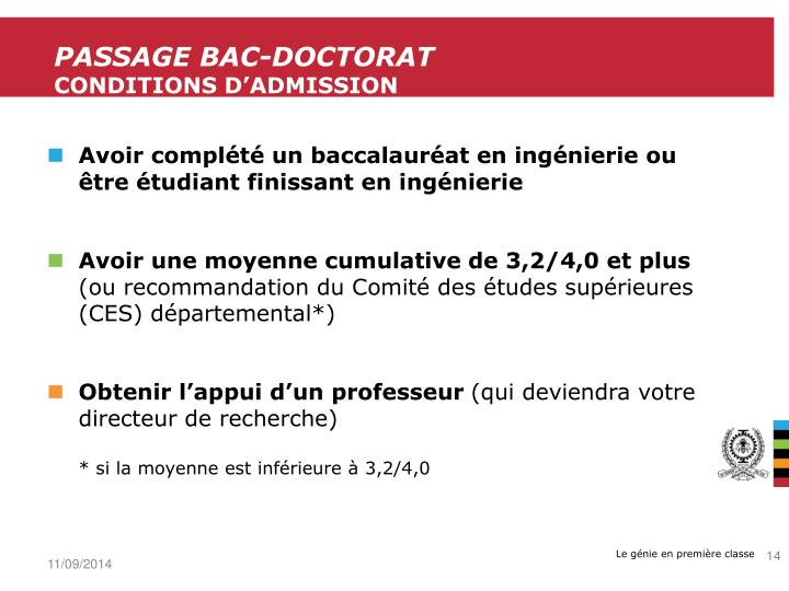 Passage Bac-Doctorat