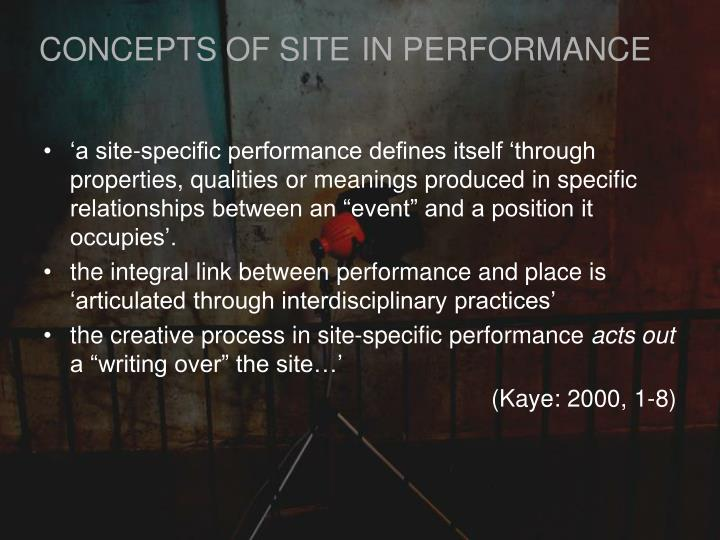 CONCEPTS OF SITE