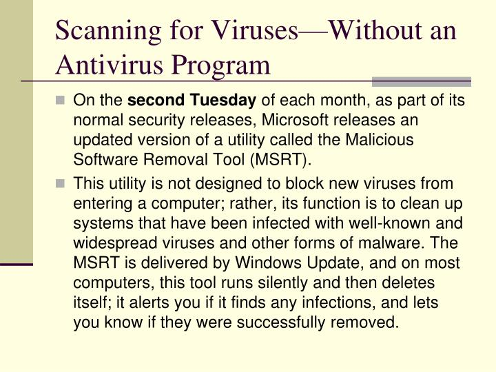 Scanning for Viruses—Without an Antivirus Program