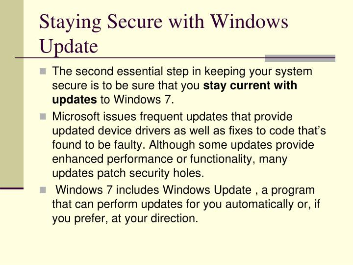 Staying Secure with Windows Update