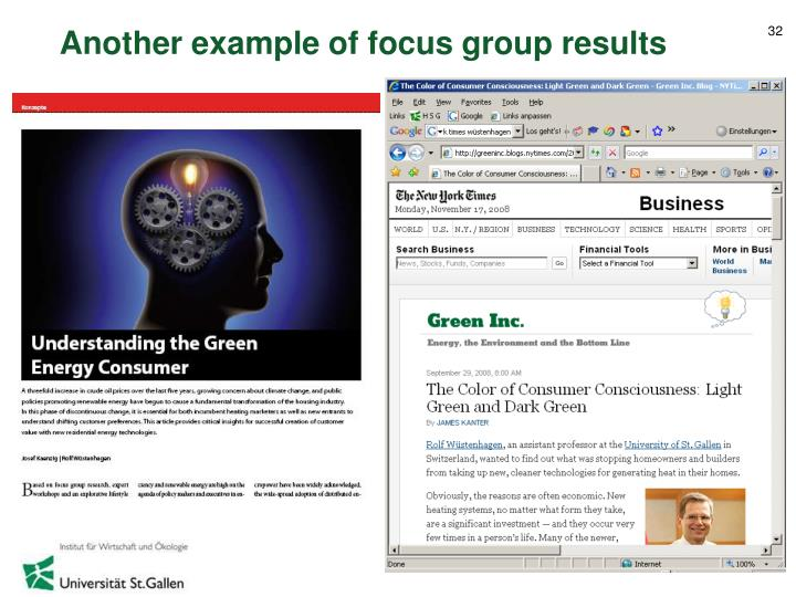 Another example of focus group results