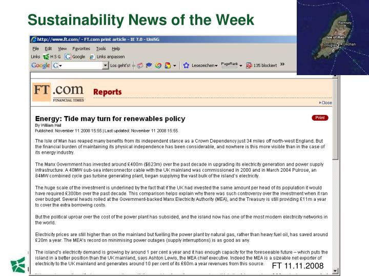 Sustainability News of the Week