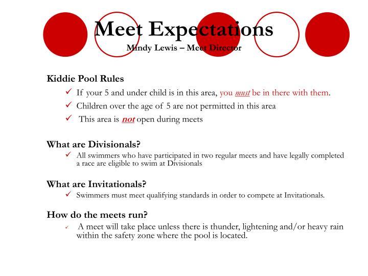 Meet Expectations