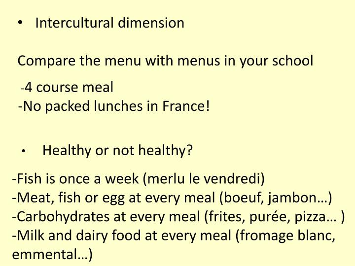 4 course meal no packed lunches in france