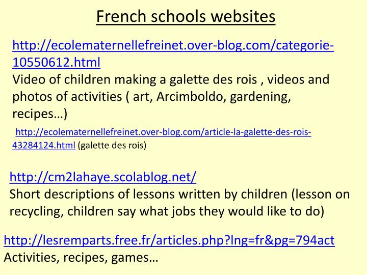 French schools websites