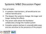 systemic m e discussion paper1