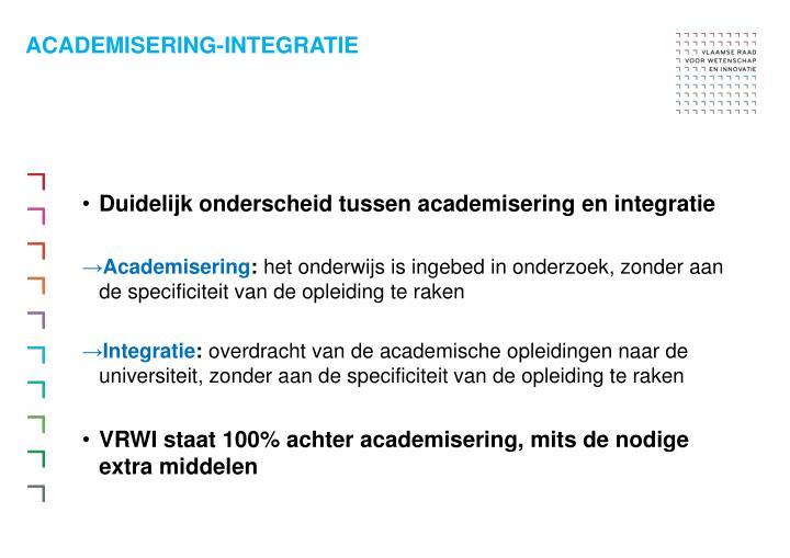 Academisering integratie