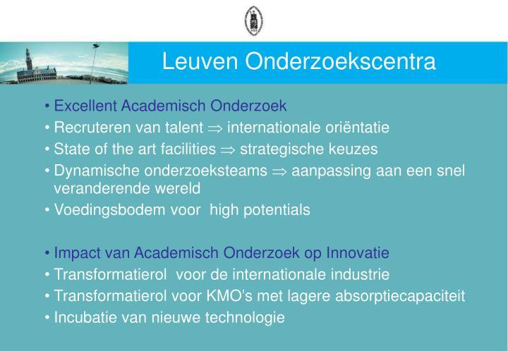 Leuven Onderzoekscentra