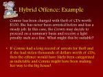 hybrid offence example