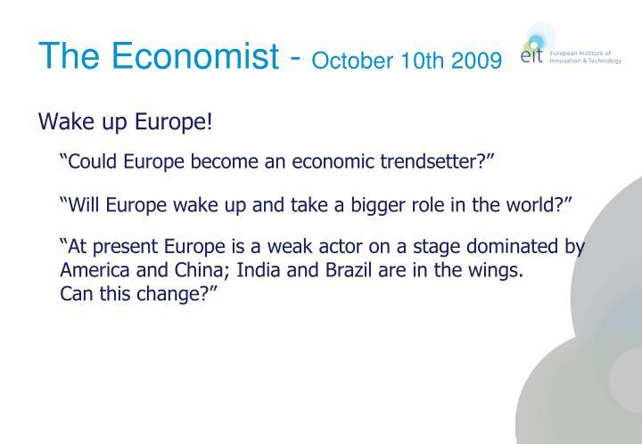 The economist october 10th 2009
